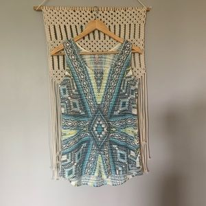 Crochet Knit Tribal Print Tank Top